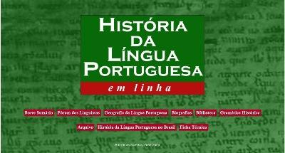 história da língua portuguesa em linha